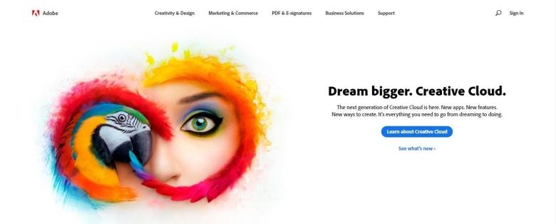 Adobe CC web